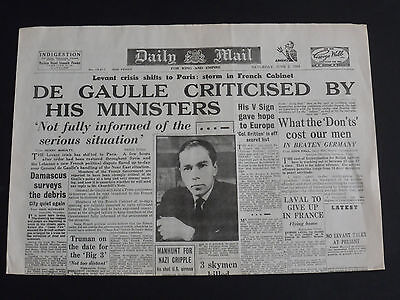 WW2 Newspaper THE DAILY MAIL June 2nd 1945