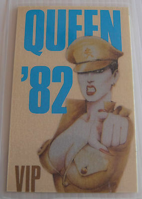 QUEEN Laminated VIP Backstage Tour Pass - 1982 - Blue (Repro)