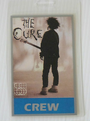 THE CURE Laminated CREW Backstage Tour Pass