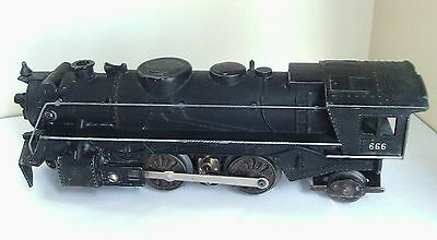 Vintage 0 Gauge Marx 666 Locomotive Tested With Some Cosmetics Issues in Fair to
