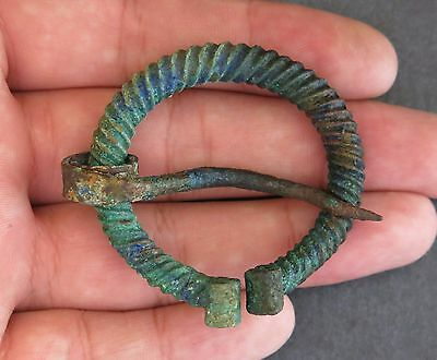 Ancient Viking Bronze Fibula Brooch RARE!