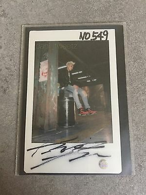 BTS Bangtanboys Rapmonster Dark & Wild Signed Polaroid