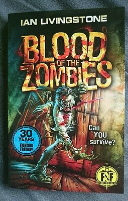 Blood of the Zombies Fighting Fantasy First Reprint New Gamebook Ian Livingstone