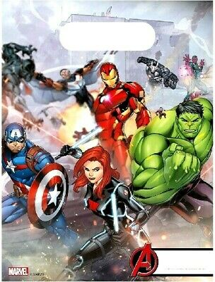 AVENGERS ASSEMBLE - PARTY LOOT BAGS Various amounts - for boys & girls favours