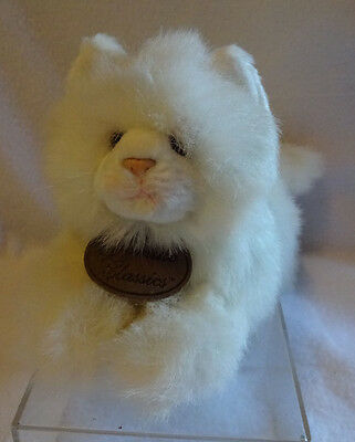 Russ Yomiko Classics White Persian Cat Kitten Kitty Stuffed Animal Plush Toy 11""