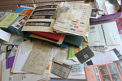 large carton FULL WITH THOUSANDS OF  MINT & USED WORLDWIDE STAMPS MANY BETTER