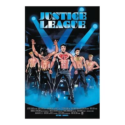 Justice League #40 Magic Mike Movie Poster Variant Comic Book