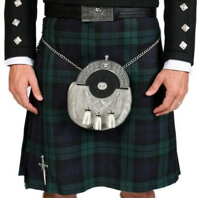 Lochcarron 100% Wool Black Watch Tartan Kilt (8 yard, 16oz, strome)
