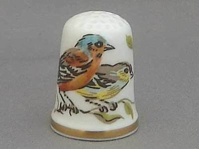 Caverswall Thimble - Chaffinches (ii)