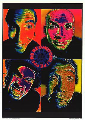 """MUSIC POSTER~Red Hot Chili Peppers Psychedelic 4 Corners NOS Import 24x34"""" Orig~"""