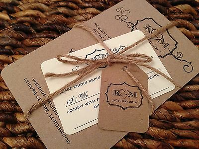 50 DIY Personalised Rustic Vintage Shabby Chic Wedding Invitations!