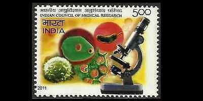 INDIA Indien Inde Medical Research Science Microscope Virus MNH NEW 2011