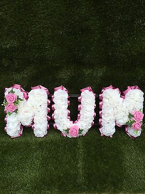 Silk Mum Funeral Flowers  Wreath Grave Tribute Any Colour
