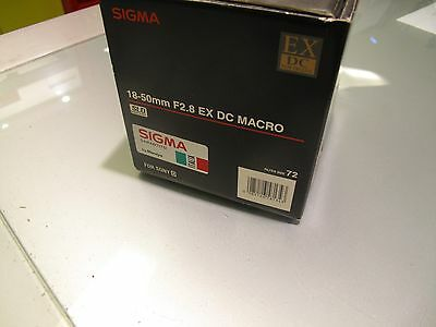 Sigma 18 - 50 Mm F 2.8 Ex Dc Macro Sld For Sony D