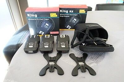 Pixel King Wireless E-TTL Flash Trigger Transmitter and 2x Receivers for Canon