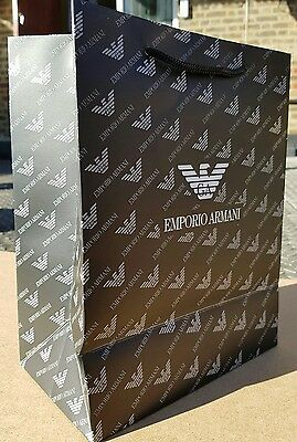 Emporio Armani 270×210×120mm Paper Shopping Carrier Ideal Valentine Gift Bag New