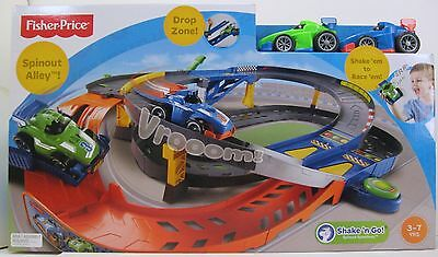Fisher Price Shake and Go Spinout Speedway Includes 2 Cars BNIB