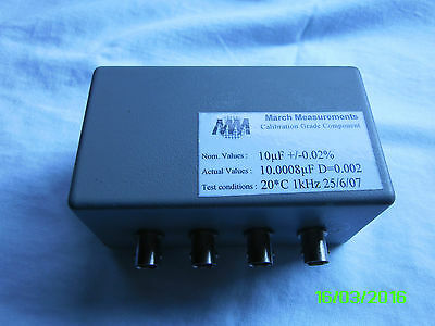10 uF capacitor standard 0.02%, 2, 3, 4 or 5 wire connection BNC +Quality+