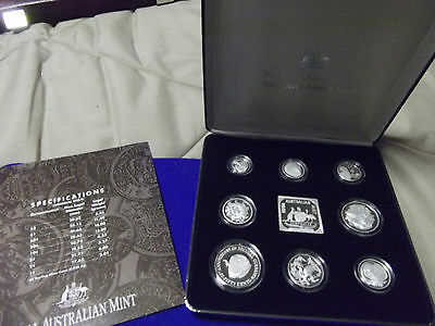 1991 Silver Jubilee Set of 8 coins Australia Royal mint masterpieces PROOF