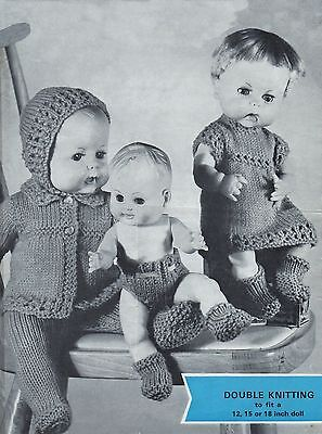 Knitting Pattern To Make Vintage Baby Dolls Clothes  12-15-18""