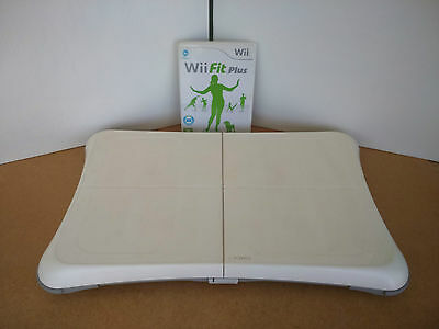 White Nintendo Wii Fit Board & Wii Fit Plus Game