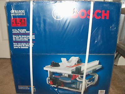 Bosch 10 inch Portable Jobsite Table Saw GTS1031 15 Amp. Fast Shipping!
