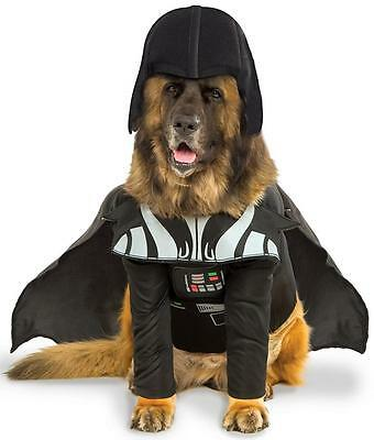 Darth Vader Star Wars Lord Big Fancy Dress Up Halloween Pet Dog Cat Costume