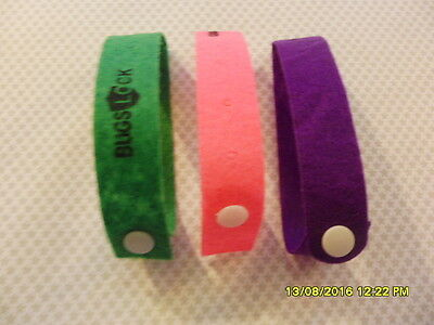 20 Piece Mosquito Insect Repellent Repeller Bug Bracelet Wrist Band Camping F