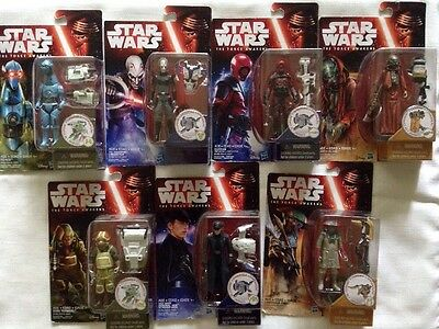 Lot of 7 Star Wars:The Force Awakens 3.75 Inch Action Figures NIB