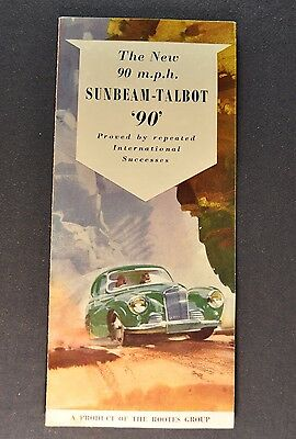 1953 Sunbeam Talbot 90 Sales Brochure Folder Original 53