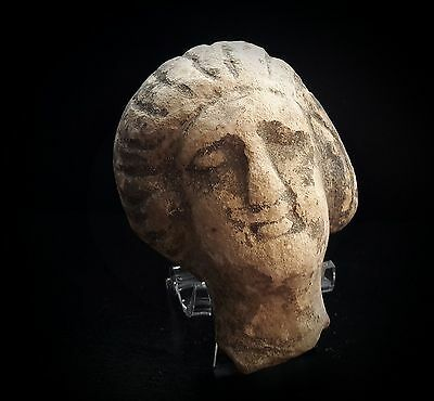 ANCIENT ROMAN COMPOSITE FEMALE HEAD WITH HAIR SWEPT BACK 1st-2rd CENTURY A.D.