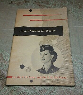 WWII Military New horizon for Women US Army Air Force WAC WAF Booklet Recruiting