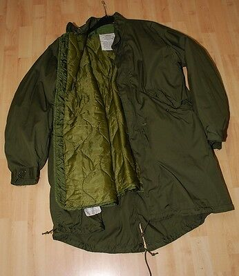 Us Army Vietnam Era Parka + Liner Extreme Cold Weather M65 Field Jacket Fishtail