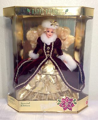 1996 Special Edition Happy Holidays Barbie Doll #15646
