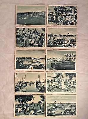 Lot of 10 Vintage Postcards 1936 Made In Milan, Italy - Unposted - Massua