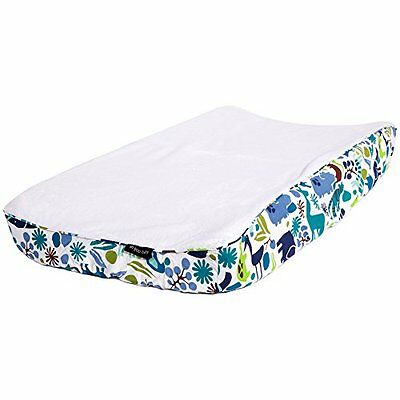 Ah Goo Baby 100% Cotton Changing Pad Cover, Universal Size, Zoo Frenzy Pattern C