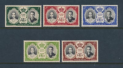 Monaco 366-70 MNH, Royal Wedding