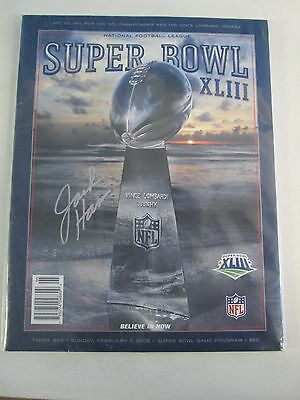 Super Bowl XLIII Program Autographed by Jack Ham Pittsburgh Steelers