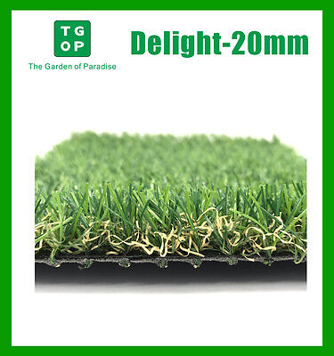 20mm 4 Tone Artificial Grass Synthetic Turf Lawn Carpet 2m/4m Width Cut Length