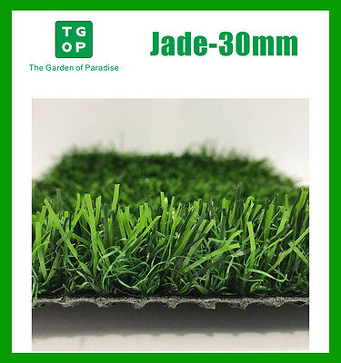 Jade-30mm 3 Tone Artificial Grass Synthetic Turf Lawn Carpet 2m or 4m Width