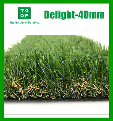 40mm 4Tone Artificial Grass Synthetic Turf  Lawn Carpet 2m/4m Width Cut Length