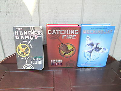 The Hunger Games trilogy of Books by Suzanne Collins all first editions