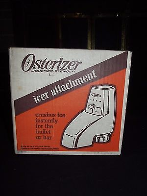 OSTER Ice Crusher ICER Blender Attachment MODEL 435-01 White VERY CLEAN