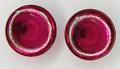 2 Pcs. / 4.25Ct. Round Cabochon 7.2 Mm. Pigeon Blood Red Ruby Lab Corundum