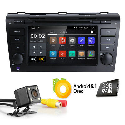 """For Mazda 3 2006 2005 2007 2008 HD Car Stereo Android 5.1 7"""" DVD GPS Radio CAM E"""