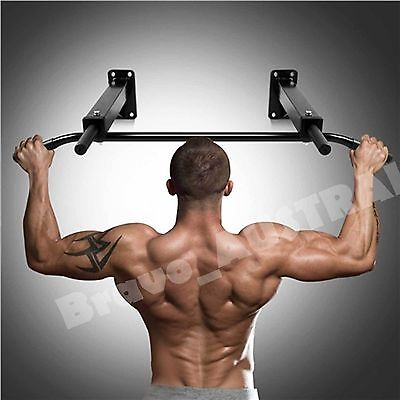 Wall Mounted Chin Pull Up Bar Crossfit Home Gym Fitness Training Mount Station