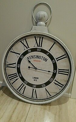 Large Fob Wall Clock,brand New,time,home,french Provincial. Shabby Chic