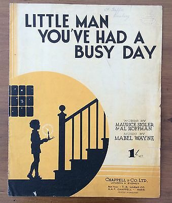 Vintage Sheet Music – Little Man You've Had a Busy Day