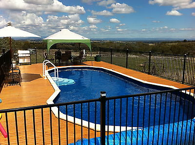 Aluminium Pool /Garden Fence Panel 2.4M - Flat Top Black 1200x2400 only $59.00