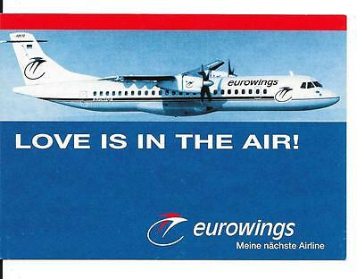 Airline issue postcard-Eurowings Germany ATR72 aircraft